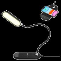Светильник с беспроводной зарядкой Momax Q.LED Flex 10W Чёрный