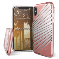 Чехол X-Doria Revel Lux для iPhone X Rose Gold Rays
