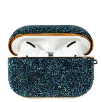 Чехол Kingxbar Crystal Fabric для Apple Airpods Pro Синий