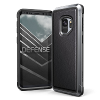 Чехол X-Doria Defense Lux для Galaxy S9 Чёрная кожа