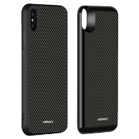 Чехол Momax: Q.Power Pack 6000mAh Carbon для iPhone Xs Max