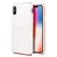 Чехол противоударный VRS Design High Pro Shield для iPhone X White/Rose Gold
