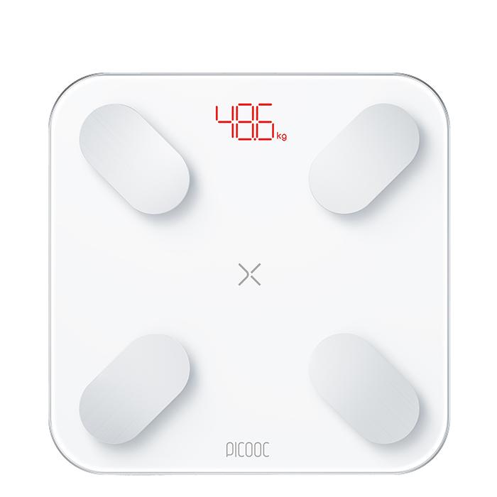 Умные диагностические весы Picooc Mini Pro Белые + фитнес-ленты и видеоуроки в подарок  - купить со скидкой