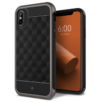 Чехол Caseology Parallax для iPhone X Black/Warm Gray