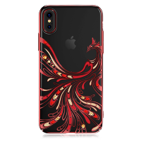 Чехол Swarovski Kingxbar Flying Series красный для iPhone X