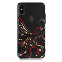 Чехол с Swarovski Kingxbar Flying Series для iPhone X Black