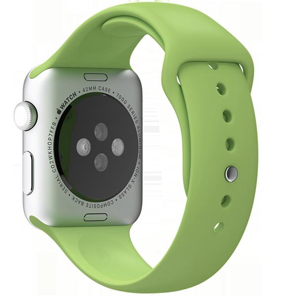 Ремешок силиконовый Special Case для Apple Watch 2 / 1 (42мм) Мятный S/M/LРемешки<br>Сверхпрочный и легкий силиконовый гипоалергенный матовый ремешок для Apple Watch с интегрированным фирменным магнитным креплением.Фиксация ремешка происходит максимально удобно путем продевания через ушко и застежки. В сущности ремешок является полным аналогом оригинального по более доступной цене.Размер соответствует обхвату запястья в диапазоне 140-210мм.<br>