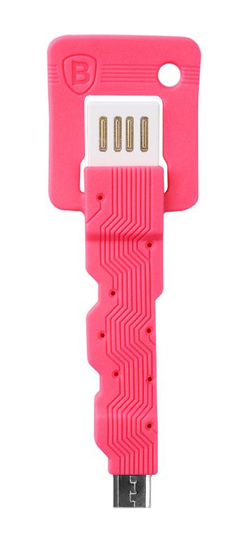 Кабель Baseus Keys Micro USB КрасныйКабели<br>В последнее время произошел просто BOOM в развитии цифровых аппаратов, в связи с этим BOOM-ом нельзя не заметить появление огромного количества аксессуаров, создаваемых для них. Для пользователей Android устройств особенно хочется выделить Baseus Keys Micro USB. Аксессуар представляет собой обрезиненный провод с USB-штекером с одной и micro-USB с другой стороны. Аксессуар имеет совсем небольшие размеры, сопоставимые с брелоком среднего размера, а круглое отверстие в корпусе позволит повесить его на ключи. Благодаря такой доступности в любой момент вы сможете подключить своё Android устройство к компьютеру или зарядному устройству. Совместим с устройствами на платформе Android.<br>