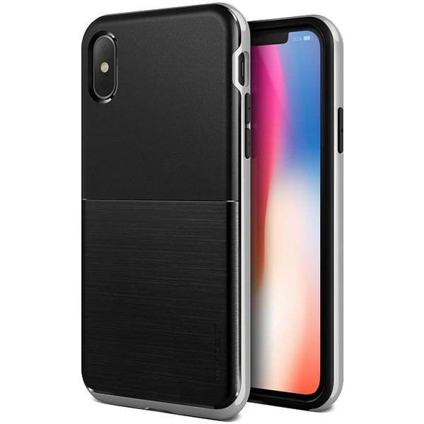 Чехол VRS Design High Pro Shield для iPhone X/Xs Серебро