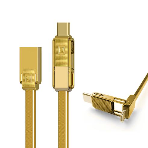 Кабель Remax Gplex 3 in 1 ЗолотоКабели<br>ОДИН КАБЕЛЬ ДЛЯ ВСЕХ УСТРОЙСТВГлавной особенностью кабеля является его универсальность. Так, уникальная конструкция коннектора с встроенным переходником позволяет подключать Apple 8pin (Lightning), Micro SD и Type-C устройства, перекрывая 99% всех мобильных устройств на рынке           ПРОЧНЫЙ И ДОЛГОВЕЧНЫЙПомимо универсальности, провод имеет сверхпрочный укрепленный кабель типа лапша и металлические коннекторы. Таким образом аксессуар прослужит не один год, радуя своей надежностью и универсальностью                 ХАРАКТЕРИСТИКИ:     длина 1 метр   разъемы: USB to Lightning/Micro USB/Type-C   металлические коннекторы, укрепленный ультрапрочный провод<br>