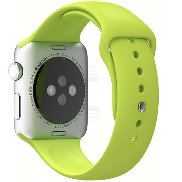 Ремешок силиконовый Special Case для Apple Watch 2 / 1 (42мм) Зеленый S/M/LРемешки<br>Сверхпрочный и легкий силиконовый гипоалергенный матовый ремешок для Apple Watch с интегрированным фирменным магнитным креплением.Фиксация ремешка происходит максимально удобно путем продевания через ушко и застежки. В сущности ремешок является полным аналогом оригинального по более доступной цене.Размер соответствует обхвату запястья в диапазоне 140-210мм.<br>