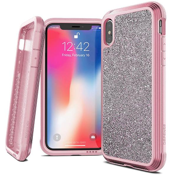 Чехол X-Doria Defense Lux для iPhone Xs Max Pink glitter фото