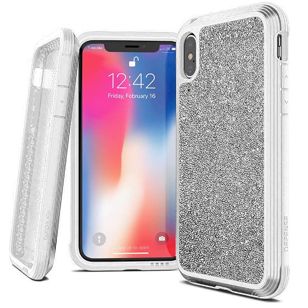 Чехол X-Doria Defense Lux для iPhone Xs Max White glitter фото