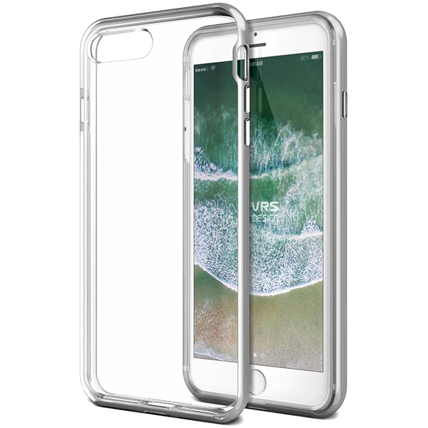 Чехол VRS Design New Crystal Bumper для iPhone 7/8 Plus Серебро фото