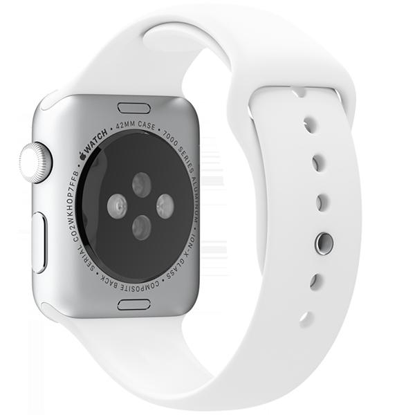 Ремешок силиконовый Special Case для Apple Watch 2 / 1 (42мм) Белый S/M/LРемешки<br>Сверхпрочный и легкий силиконовый гипоалергенный матовый ремешок для Apple Watch с интегрированным фирменным магнитным креплением.Фиксация ремешка происходит максимально удобно путем продевания через ушко и застежки. В сущности ремешок является полным аналогом оригинального по более доступной цене.Размер соответствует обхвату запястья в диапазоне 140-210мм.<br>