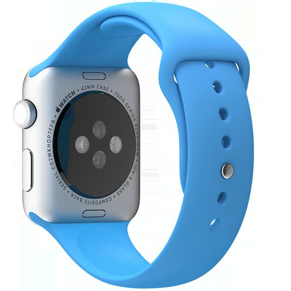 Ремешок силиконовый Special Case для Apple Watch 2 / 1 (42мм) Синий S/M/LРемешки<br>Сверхпрочный и легкий силиконовый гипоалергенный матовый ремешок для Apple Watch с интегрированным фирменным магнитным креплением.Фиксация ремешка происходит максимально удобно путем продевания через ушко и застежки. В сущности ремешок является полным аналогом оригинального по более доступной цене.Размер соответствует обхвату запястья в диапазоне 140-210мм.<br>