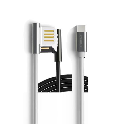 Кабель Remax Emperor USB to Type-C СереброКабели<br>Remax Emperor выделяется среди массы необычным USB штекером, повернутым на 90 градусов                         Такое решение значительно увеличивает комфорт при подключении к ПК или Ноутбуку для передачи данных и зарядки                 Кроме того такое решение уменьшает перегибы кабеля во время эксплуатации, продлевая ему срок службы. Высококачественный кабель позволяет заряжать с высокой скоростью 2.1 Ампер, а длина его составляет стандартные 100 сантиметров                ОСОБЕННОСТИ:      USB Type-C to USB   длина 1 метр   металлические коннекторы<br>