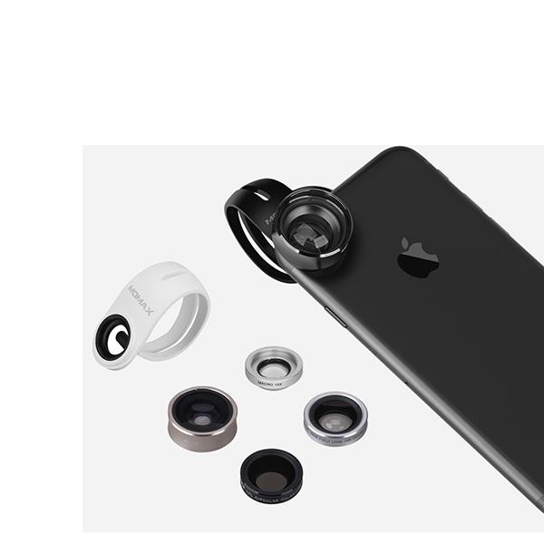 Набор из 5 объективов Momax 5in1 Superior Lens Kit для смартфонов