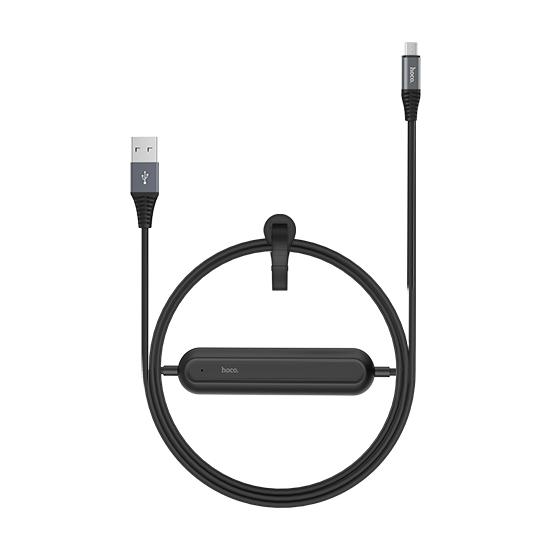 Кабель с аккумулятором HOCO U22 Bei Power Bank Micro USB ЧерныйДополнительные аккумуляторы<br>Уникальный гибридный аксессуар сочетает в себе надежный USB кабель и встроенный прямо в него дополнительный аккумулятор емкость 2000 мАч, который не раз выручит вас в трудную минуту         Его компактными размерами можно пренебречь, а вот пользу переоценить сложно. Вы как обычно просто заряжаете свой гаджет проводом, и он одновременно заряжает встроенный аккумулятор. Затем бросаете его в сумку или карман, и когда розетки не окажется под рукой, пользуетесь им без розетки                 ХАРАКТЕРИСТИКИ     кабель micro USB to USB   встроенный аккумулятор 2000мАч<br>