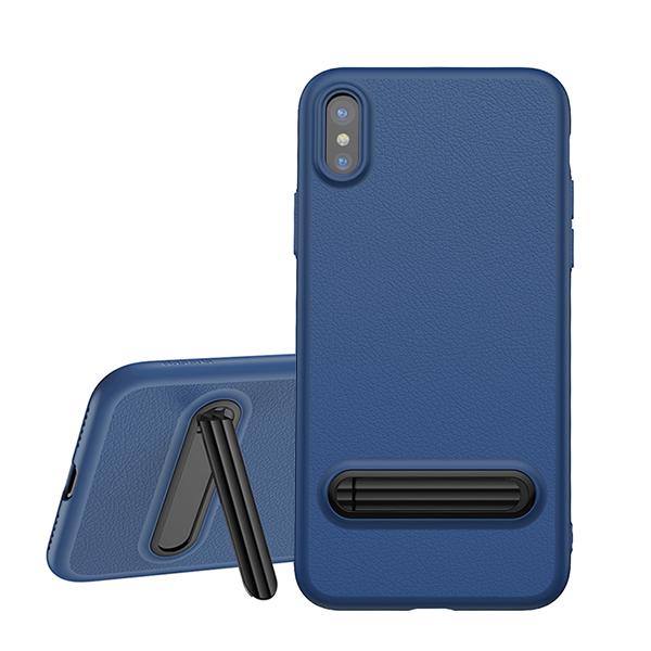 Baseus Happy Watching Case - чехол с подставкой для iPhone X/Xs Синий