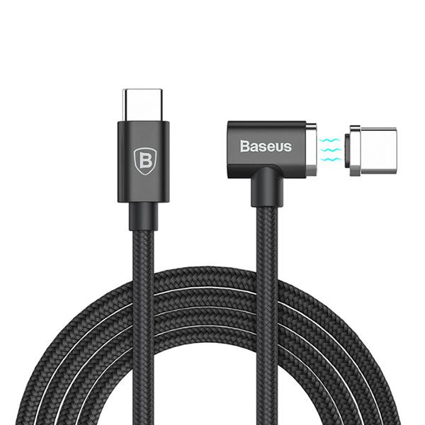 Кабель магнитный Baseus Magnet Type-C 84Wh 1.5м ЧерныйКабели<br>MAGSAFE ВЕРНУЛСЯ В НОВЫЕ MACBOOK И НЕ ТОЛЬКОУникальный магнитный USB3.0 to Type-C кабель позволяет вернуть любимую всеми магнитную зарядку в новые Macbook с Type-C. Пропускная мощность в 84 Ватт/4.3 Ампер позволяет заряжать даже старшие модели Macbook Pro на максимально высокой скорости. Помимо Macbook, аксессуар совместим со всеми смартфонами, планшетами и ноутбуками с соответствующим интерфейсом и зарядит их с максимально высокой скоростью                    ДОЛГОВЕЧНЫЙ И ВЫСОКОКАЧЕСТВЕННЫЙПровод имеет оплетку из прочного нейлона, металлические коннекторы, один из которых имеет L-образную форму. Все это делает аксессуар практически неубиваемым. Так, разрывная нагрузка превышает 500 килограмм, а устойчивость на изгибы исчисляется 7-значными цифрами                 БЕЗОПАСНЫЙПри разработке во главу угла ставилась безопасность, учитывая высокую пропускную способность и дорогостоящие устройства, которые планируется заряжать кабелем. Интеллектуальный чип позаботится о всевозможных угрозах, обеспечив полную безопасность пользователю и его оборудованию           ХАРАКТЕРИСТИКИ     USB 3.0 to Type-C   материалы: аэрокосмический алюминий, нейлоновая оплетка   длина 1.8 метра (диаметр 3.8мм)   максимальное напряжение: 4.3 Ампер   максимальный вольтаж: 20 Вольт   максимальная мощность: 86 Ватт   совместимость: macbook, macbook pro, планшеты и смартфоны с Type-C<br>