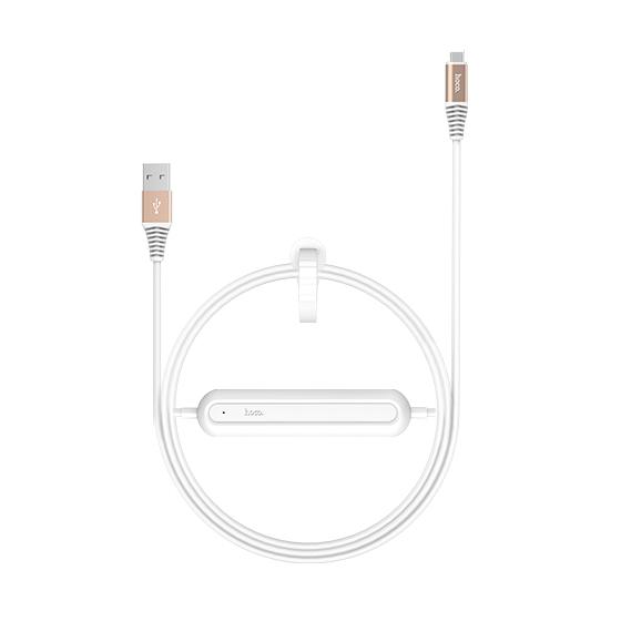 Кабель с аккумулятором HOCO U22 Bei Power Bank Type-C БелыйДополнительные аккумуляторы<br>Уникальный гибридный аксессуар сочетает в себе надежный USB кабель и встроенный прямо в него дополнительный аккумулятор емкость 2000 мАч, который не раз выручит вас в трудную минуту         Его компактными размерами можно пренебречь, а вот пользу переоценить сложно. Вы как обычно просто заряжаете свой гаджет проводом, и он одновременно заряжает встроенный аккумулятор. Затем бросаете его в сумку или карман, и когда розетки не окажется под рукой, пользуетесь им без розетки                 ХАРАКТЕРИСТИКИ     кабель Type-C to USB   встроенный аккумулятор 2000мАч<br>