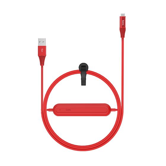 Кабель с аккумулятором HOCO U22 Bei Power Bank Type-C КрасныйДополнительные аккумуляторы<br>Уникальный гибридный аксессуар сочетает в себе надежный USB кабель и встроенный прямо в него дополнительный аккумулятор емкость 2000 мАч, который не раз выручит вас в трудную минуту         Его компактными размерами можно пренебречь, а вот пользу переоценить сложно. Вы как обычно просто заряжаете свой гаджет проводом, и он одновременно заряжает встроенный аккумулятор. Затем бросаете его в сумку или карман, и когда розетки не окажется под рукой, пользуетесь им без розетки                 ХАРАКТЕРИСТИКИ     кабель Type-C to USB   встроенный аккумулятор 2000мАч<br>