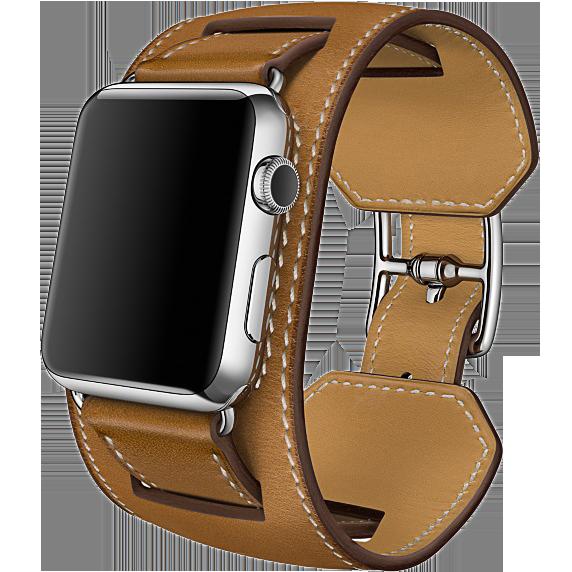 Ремешок кожаный HM Style Cuff для Apple Watch 2 / 1 (38mm) КоричневыйРемешки<br>Шикарный ремешок из натуральной телячьей кожи выполнен в ретро стиле     При желании можно отсоединить широкую часть и получится классический ремешок           Качество ремешка, кожи и исполнения - первоклассное. Подойдет для запястья 23-26см<br>