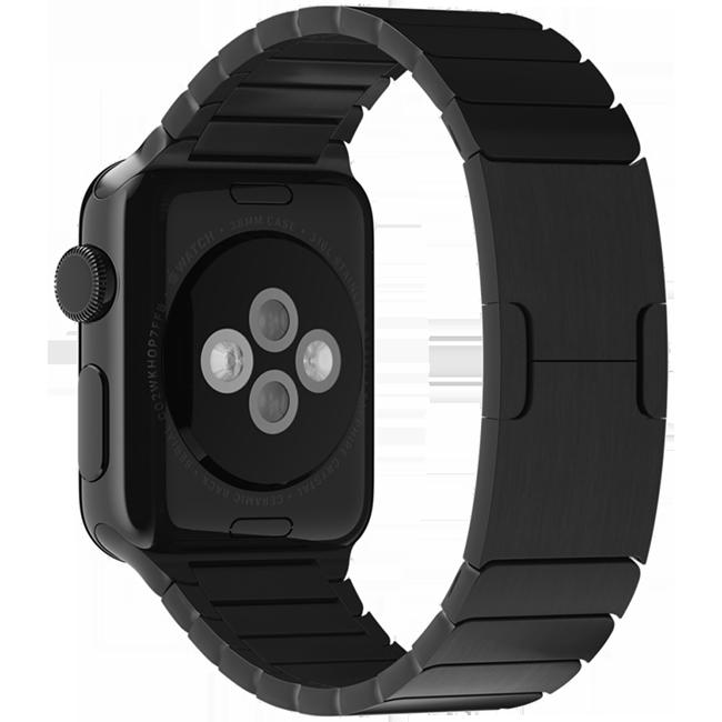 Браслет блочный для Apple Watch 42/44 мм Черный фото