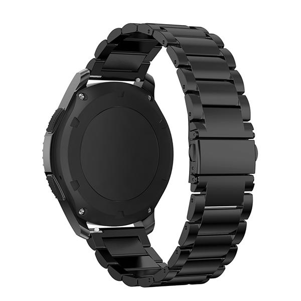 Браслет стальной для Samsung Gear S3/Samsung Galaxy Watch 46 Черный фото