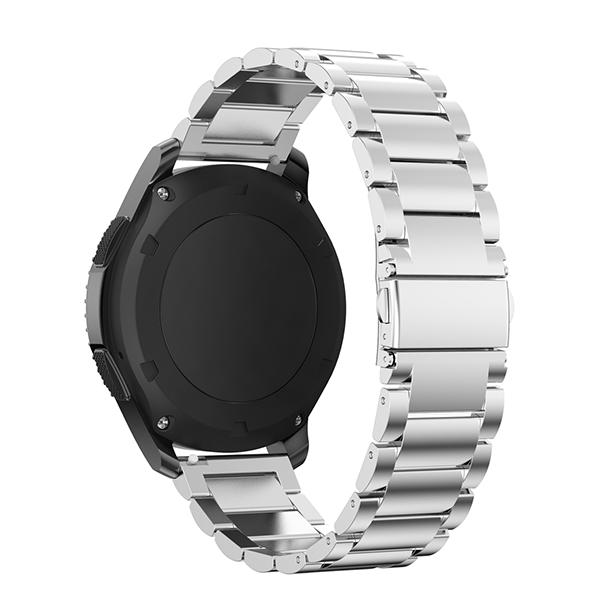 Браслет стальной для Samsung Gear S3 СереброРемешки<br>Стильный классический браслет из нержавеющей стали для Samsung Gear S3 с удобной застежкой         Он отлично сочетается с как с деловой классической одеждой, так и с casual               ХАРАКТЕРИСТИКИ:     длина 155-231мм   совместимость: Samsung Gear S3 Frontier/Classic<br>