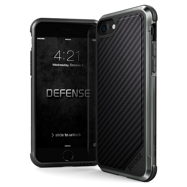 Чехол X-Doria Defense Lux для iPhone 8/7 Black Carbon