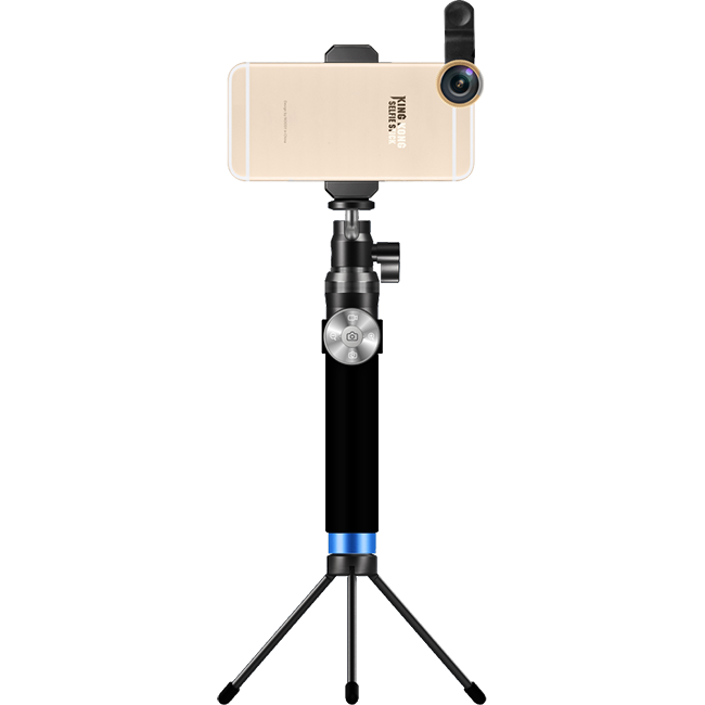 Премиум монопод + трипод + штатив Noosy KingKong ЧерныйШтативы<br>Ультимативный монопод от Noosy полностью выполнен из авиационного алюминия и является не просто палкой для селфи а неким гибридом с профессиональным штативом. Его длина в разложенном состоянии достигает 92 см., а в сложенном всего 24. Отсоединяемый пульт управления с функциями фото, видео и зума совместим с Android и Apple (на iOs работает только кнопка спуска).         Так же в комплект поставки входит компактная металлическая тринога, позволяющая превратить аксессуар в полноценный штатив               Стандартная резьба на вращающейся головке позволяет установить лубой фотоаппарат, от дешевой мыльницы до профессиональной зеркалки       Комплектация:     монопод Noosy KingKong   пульт управления   крепление для смартфона от 4 до 6 дюймов   металлическая тринога   ремешок на запястье   зарядный кабель   мешочек для переноски<br>