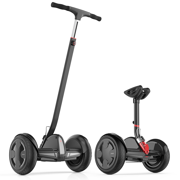 Мини сигвей IWALK Pro Robot 6.4Ah ЧерныйСигвеи<br>ГонгКонгская компания IWALK занимается производством электротранспорта и новая модель Pro Robot до боли напоминает сигвей от NineBot, но обладает рядом преимуществ, о которых ниже:           КОРПУС ИЗ МАГНИЯКорпус сигвея изготовлен из сверхпрочного магниевого сплава, вмеру легкого и чрезвычайно прочного                   2 РУЧКИ В КОМПЛЕКТЕ   Во-первых, сигвей комплектуется рычагом управления, регулируемым по высоте, позволяя подстроить оптимальное положение в зависимости от роста пользователя. Во-вторых, в комплекте поставляется дополнительная ростовая ручка для управления руками, превращающая IWALK в полноценный сигвей                    ЗАЩИТА IP54   Сигвей сертифицирован по стандарту защиты ip54, означающему устойчивость к пыле, влаге и дождю                   МОЩНЫЙ И БЫСТРЫЙIWALK Robot оснащен двумя мощными моторами по 350 Ватт каждый, способными разогнать пользователя до 22 километров в час. Емкий аккумулятор от LG 6.4Ah позволит преодолеть до 35 километров на одном заряде                    УМНЫЙ  Встроенный Bluetooth и бесплатное фирменное приложение для iOs и Android открывают для пользователя множество возможностей: установка блокировки и режима сигнализации, установка ограничения скорости, регулировка чувствительности к поворотам, удаленное управление сигвеем, цвета подсветки, диагностика неисправностей, мониторинг скорости движения и многое другое                  БЕЗОПАСНЫЙ   Robot оснащен интеллектуальной начинкой, защищающей его от замыканий, перегрева, перезаряда, скачков напряжения. Если пользователь соскакивает с него во время движения, он автоматически остановится                   ОТЛИЧИЯ ОТ Ninebot Mini:     Встроенная подножка   Регулируемый по высоте руль   Большая ручка-руль в комплекте             ХАРАКТЕРИСТИКИ:     габариты: 260х550х610мм   вес 13.5 кг   диаметр колес 10.5 дюймов   максимальная нагрузка 100 кг   моторы: 2х 350 Ватт   аккумулятор: 6.4Ah LG (до 35 км на одном заряде)   макси