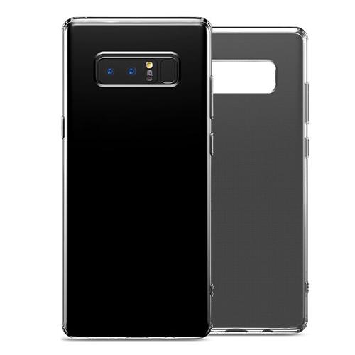 Чехол силиконовый Baseus Simple для Galaxy Note 8 ЧерныйЧехлы<br>Ультратонкий незаметный чехол из прозрачного бесцветного плотного силикона прекрасно защитит смартфон от царапин, пыли и повреждений а так же перестанет скользить в руках           Углы чехла имеют дополнительные утолщения, повышающие защитные свойства<br>