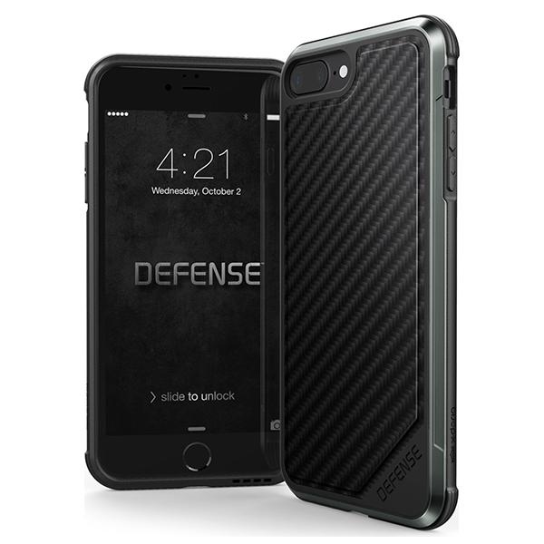 Чехол X-Doria Defence Lux для iPhone 8 Plus / 7 Plus Black CarbonАксессуары для экшн камер<br>Чехол X-Doria Defence Lux для iPhone 8 Plus / 7 Plus Black Carbon.       Невероятно стильный и защищенный кейс благодаря комбинации поликарбоната, силикона и анодированного авиационного алюминия позволяет уронить iPhone с высоты 2 метра без каких-либо последствий для смартфона        &gt;Defense Lux даже защитит дисплей при падении на плоскую поверхность за счет небольшого выступа силиконовой части за его плоскость              Lux защитит ваш iPhone, придаст ему уникальный внешний вид и при этом практически не увеличит его в размерах<br>