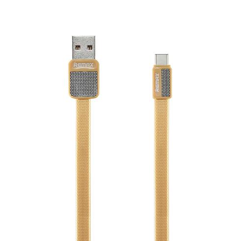 Кабель Remax Platinum USB to Type-C ЗолотоКабели<br>Remax Platinum отличается сверхпрочным шнуром из полимера, способным выдержать нагрузку в 500 килограмм на разрыв              Помимо разрывной прочности, кабель невероятно стойкий на изгиб, что гарантирует долговечность в эксплуатации. Пропускная способность позволяет передавать информацию со скоростью 480 мегабит в секунду и быстро заряжать гаджеты                 ОСОБЕННОСТИ:     стандарт USB to Type-C   длина 1 метр   разрывная нагрузка 500 килограмм   Макс. сила тока 2.1 Ампер<br>