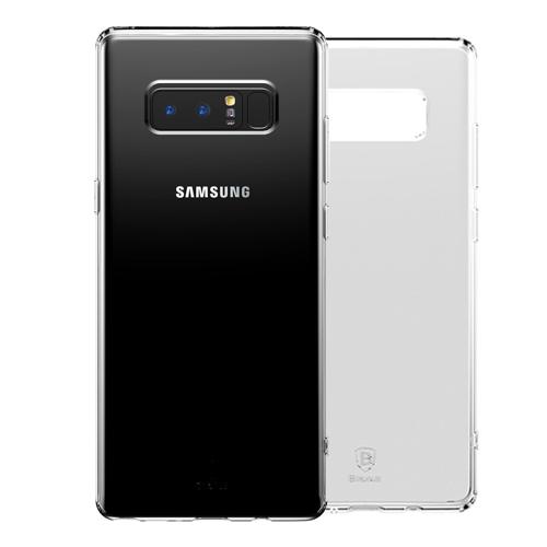 Чехол силиконовый Baseus Simple для Galaxy Note 8 ПрозрачныйЧехлы<br>Ультратонкий незаметный чехол из прозрачного бесцветного плотного силикона прекрасно защитит смартфон от царапин, пыли и повреждений а так же перестанет скользить в руках           Углы чехла имеют дополнительные утолщения, повышающие защитные свойства<br>