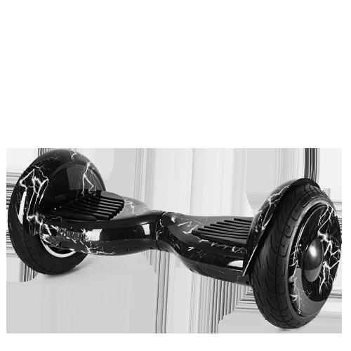 Гироскутер Smart Balance 10.5 Premium Plus (APP+AUTOBALANCE) Черный с белой молнией