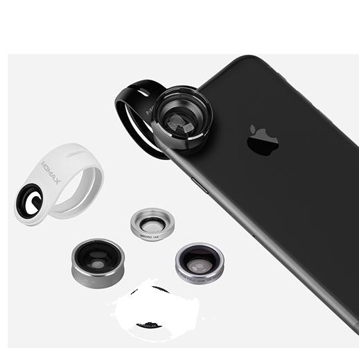 Набор из 4 объективов Momax 4in1 Superior Lens Kit для смартфонов СереброОбъективы<br>Набор сменных объективов для смартфонов на все случаи жизни, способный воплотить практически любые задумки творческой личности. Благодаря универсальной клипсе, объективы подойдут к практически любому смартфону. Высококачественные стекла имеют высокие оптические свойства, а корпуса изготовлены из высококачественного и долговечного алюминия.    Все объективы упакованы в приятный миниатюрный бокс, позволяющий не повредить и не растерять их                           МАКРО   Один из самых интересных объективов в линейке. Он увеличивает картинку в 15 раз и позволяет сфокусироваться на близких объектах, имея очень маленькую глубину резкости, позволяя красиво размыть фон. В руках творческой личности эта линза способна на очень интересные кадры                    ШИРОКОУГОЛЬНЫЙ   Широкоугольная линза имеет угол обзора аж 120 градусов и идеально подойдет для съемки пейзажей и стрит фотографии                    ПОЛЯРИК   Поляризационная линза хорошо знакома профессиональным фотографам, так как имеется в арсенале практически у каждого. Она позволяет убрать с изображения нежелательные блики а так же увеличивает насыщенность цветов                             РЫБИЙ ГЛАЗ   Эффект рыбьего глаза отлично передает эффект присутствия и дает максимальный угол обзора<br>
