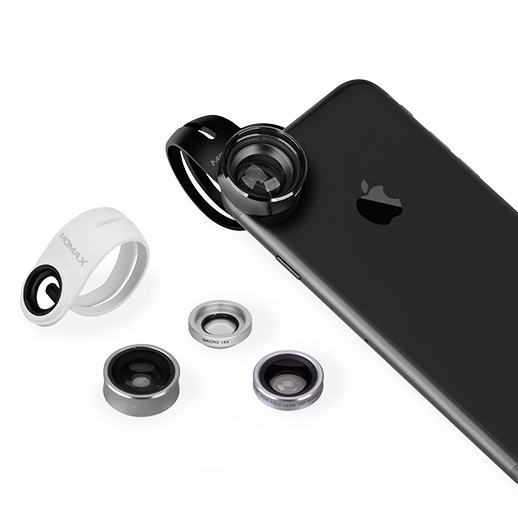 Набор из 4 объективов Momax 4in1 Superior Lens Kit для смартфонов Серебро