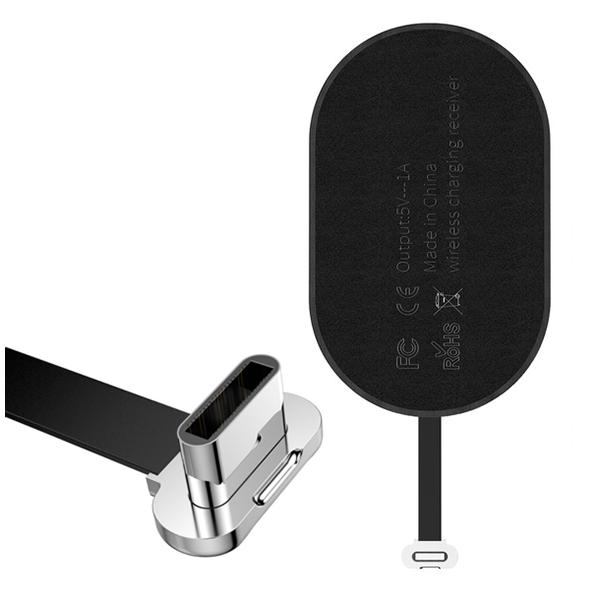 Модуль приема беспроводной зарядки Baseus Qi Wireless Receiver Type-CЗарядные устройства<br>Компактный ультра тонкий модуль, позволяющий пользоваться прелестями беспроводной Qi зарядки, просто приклеив модуль к задней стенке или поместив под чехол и вставив в зарядный порт смартфона           Характеристики:     совместимость: смартфоны с разъемом Type-C   материал: микрофибра   выходной ток: 5 Вольт 1 Ампер<br>