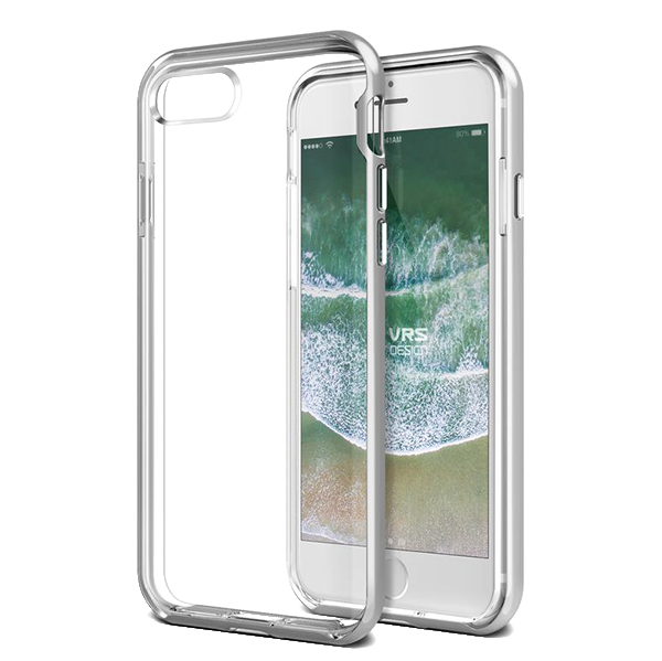 Чехол VRS Design New Crystal Bumper для iPhone 8/7 Серебро