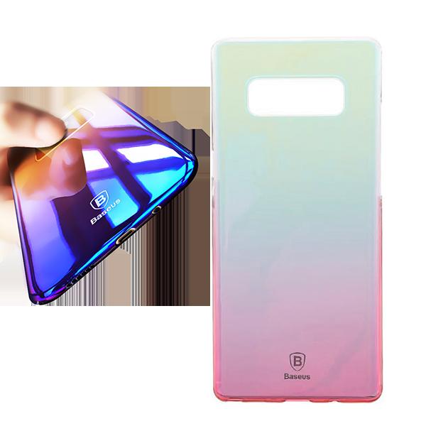 Чехол-накладка Baseus Glaze для Galaxy Note 8 РозовыйЧехлы<br>Ультратонкая накладка из полупрозрачного поликарбоната защитит дорогостоящий смартфон от неизбежных падений и царапин практически не повлияв на его габариты и вес         Особенностью модели является особая покраска, меняющая свою окраску с изменением угла зрения<br>