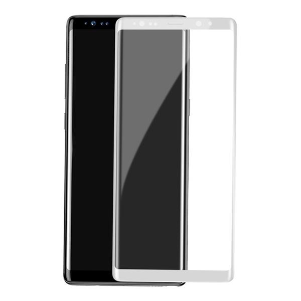 Стекло защитное 3D Baseus 0.3mm для Galaxy Note 8 Белое фото