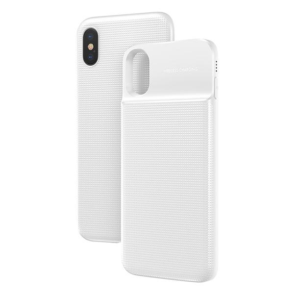 Чехол-аккумулятор Baseus 1+1 Wireless Charge 5000mah для iPhone X Белый
