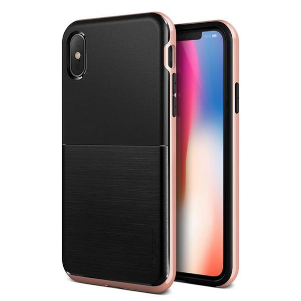 Чехол противоударный VRS Design High Pro Shield для iPhone X Rose Gold