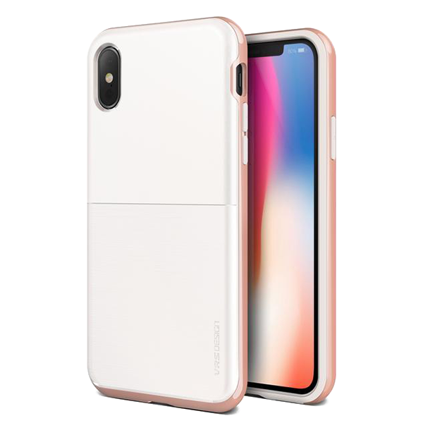 Чехол VRS Design High Pro Shield для iPhone X White/Rose Gold фото