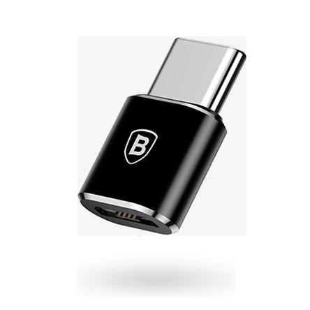 Переходник Baseus Micro USB to Type-C OTG converterПереходники<br>Компактный переходник с Micro USB на Type-C открывает большие возможности подключения периферийных устройств к устройству с Type-C входом         Например вы можете подключить мышку к своему планшету, или клавиатуру и т.д.                 ХАРАКТЕРИСТИКИ:     вход Micro USB   выход Type-C   максимальный ток 2.4 Ампер<br>