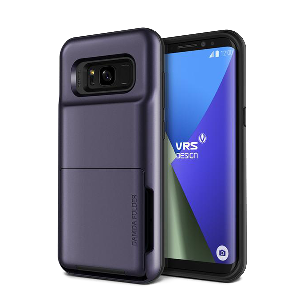 Чехол с отсеком для карт VRS Design Damda Folder для Galaxy S8 Plus Фиолетовый